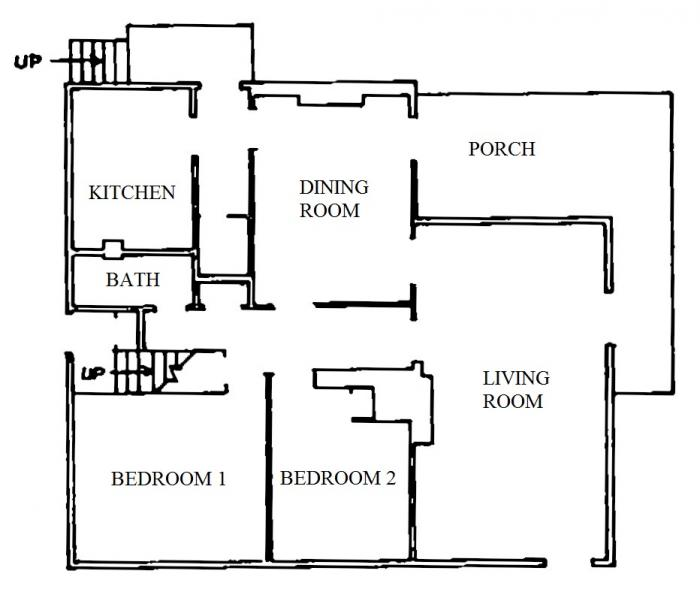 118 Oakhurst Circle lower apartment floor plan