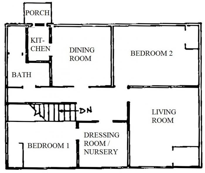 118 Oakhurst Circle upper apartment floor plan