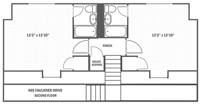 465 Faulkner Drive second level floor plan