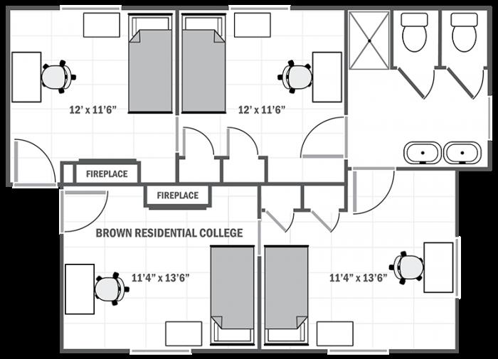 Brown Residential College Sample Floor Plan