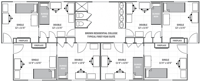Brown College typical first-year suite