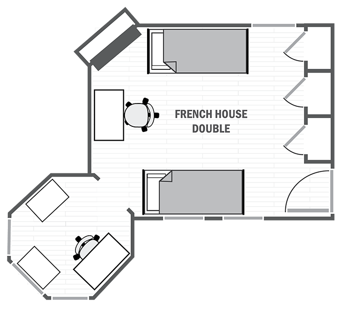 French House double sample floor plan