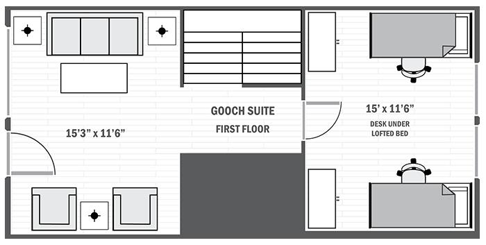 Gooch Suite first floor sample floor plan