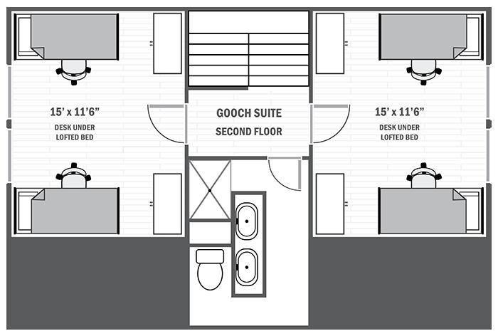 Gooch Suite second floor sample floor plan