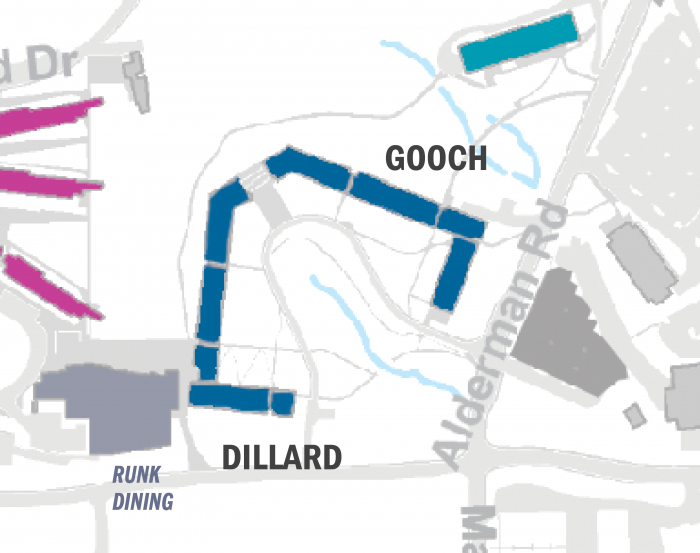 Gooch/Dillard suite-style buildings map