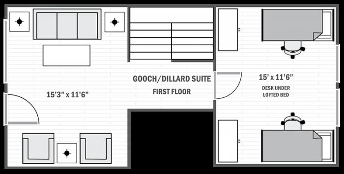Gooch/Dillard Suite first floor sample floor plan