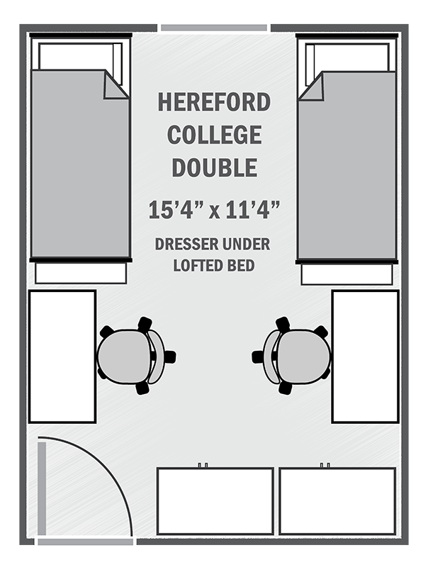 Hereford Residential College double sample floor plan