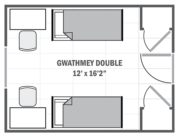 Gwathmey House double sample floor plan