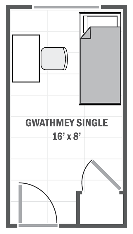 Gwathmey House single sample floor plan