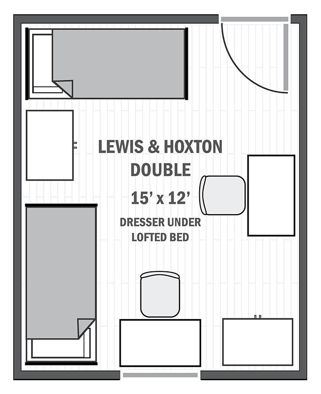 Lewis & Hoxton double sample floor plan