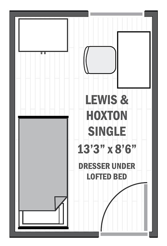 Lewis & Hoxton single sample floor plan