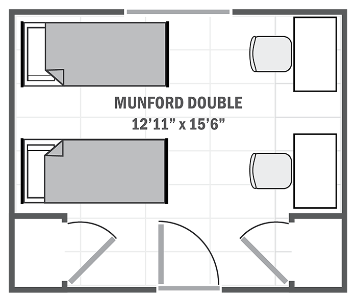 Munford House double sample floor plan