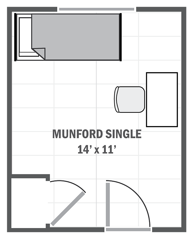 Munford House single sample floor plan
