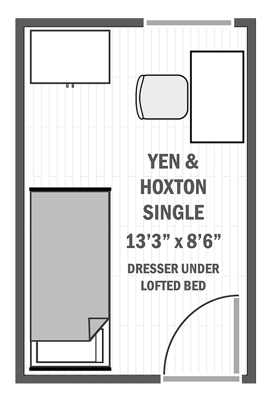 Yen & Hoxton single sample floor plan
