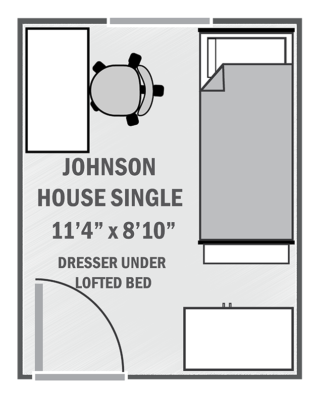 Johnson House single sample floor plan