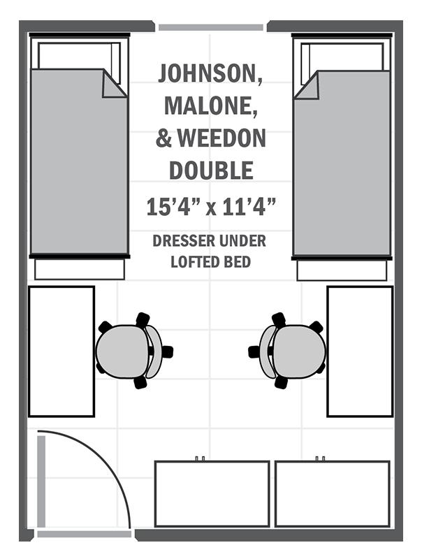 Johnson, Malone, & Weedon double sample floor plan