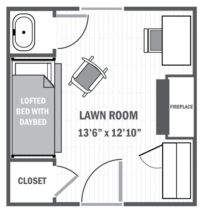 Lawn room sample floor plan