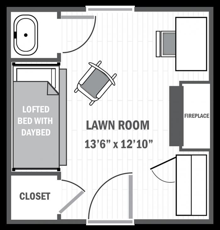 Lawn room sample floor plan