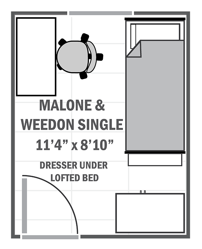 Malone & Weedon Houses single sample floor plan