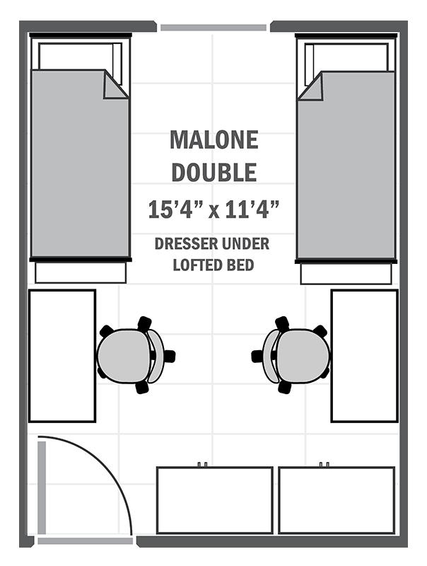 Malone double sample floor plan