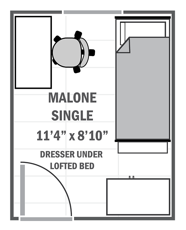 Malone single sample floor plan