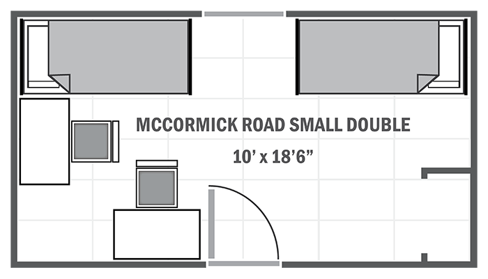 McCormick Road small double sample floor plan