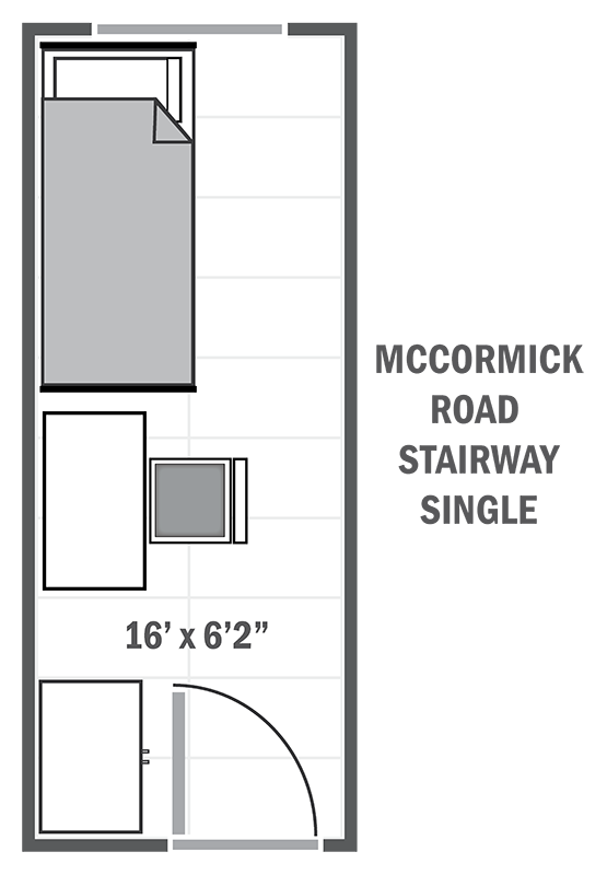 McCormick Road stairway single sample floor plan