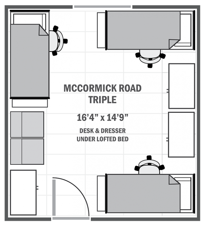 McCormick Road triple sample floor plan