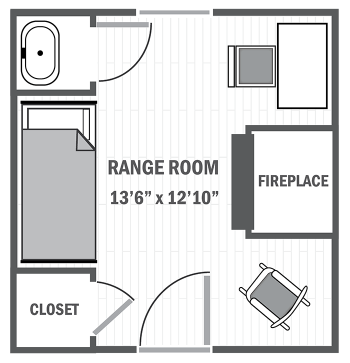 Range room sample floor plan