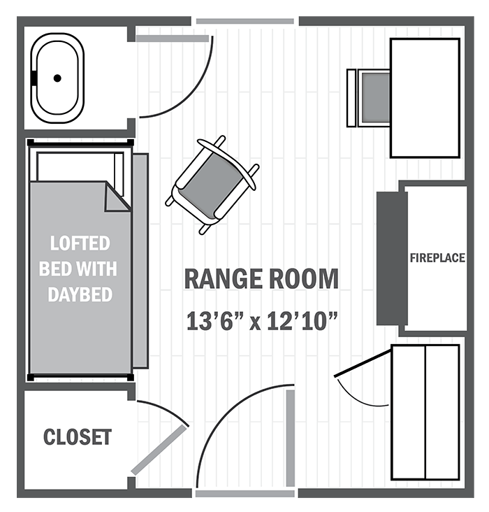 Range single sample floor plan