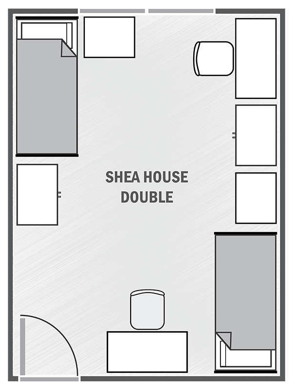 Shea House double sample floor plan