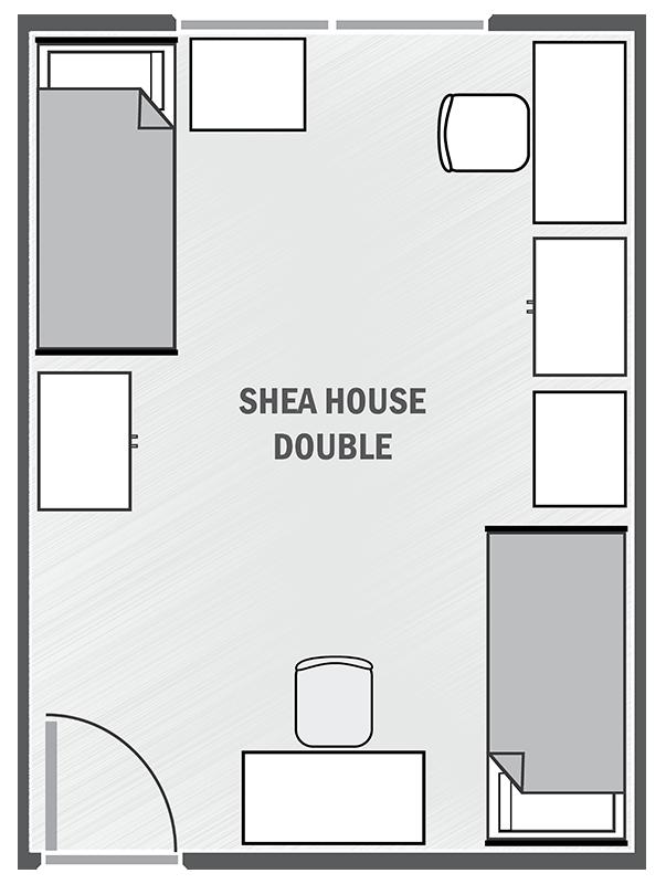 Shea House double sample floor plan