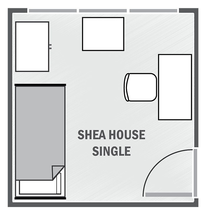 Shea House single sample floor plan