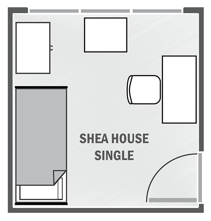 Shea House single sample floor plan