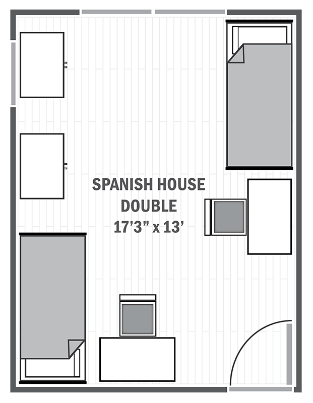 Spanish House double sample floor plan