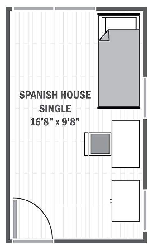 Spanish House single sample floor plan