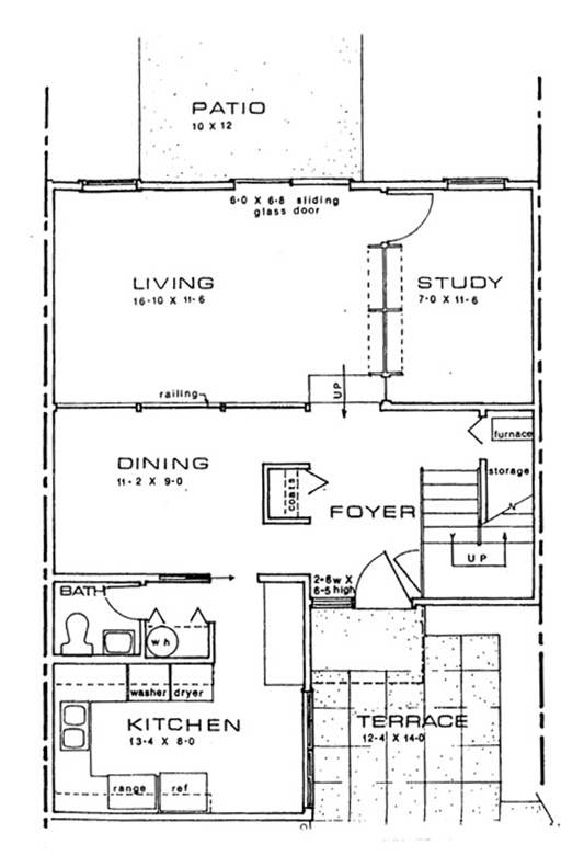 Stadium Road first floor sample floor plan