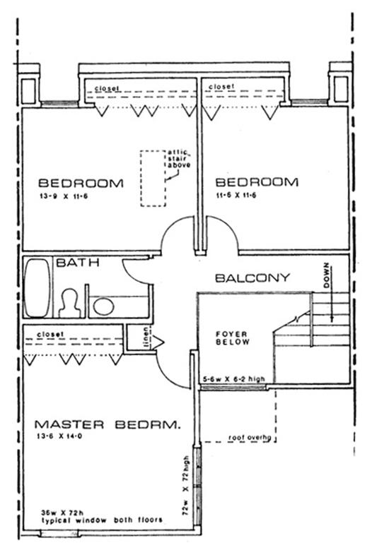 Stadium Road second floor sample floor plan