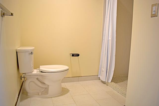 Bond bathroom with stall shower