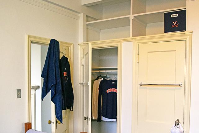 Closets in bedroom