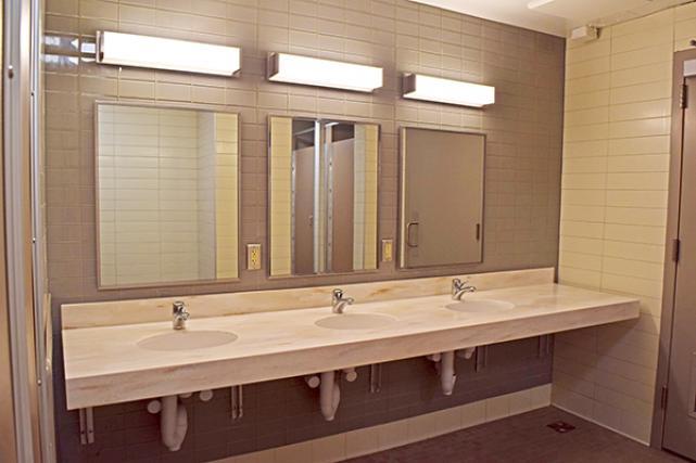 Bathrooms in Alderman Road suites were renovated in 2020