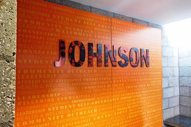Johnson entry signage