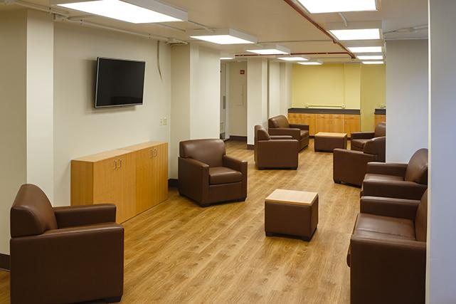 TV and study lounge in Fitzhugh