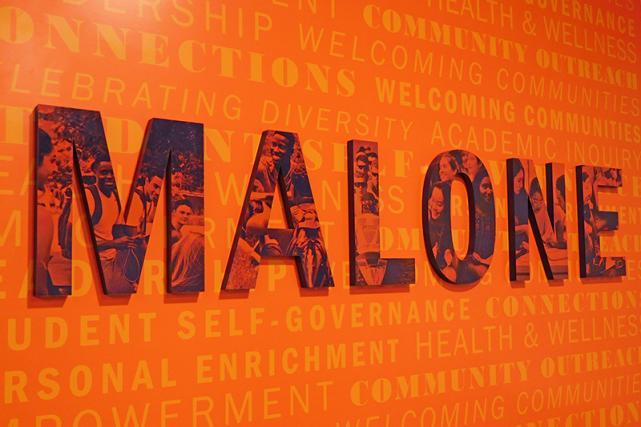 Malone entry signage