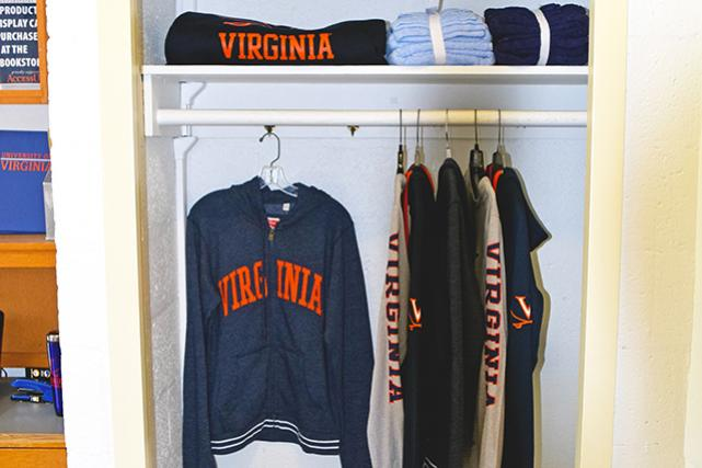 Built-in closet in traditional room