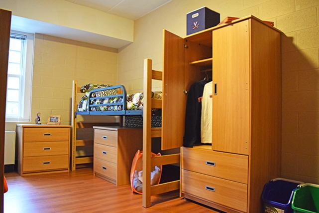 Dresser can be used independently or stored under lofted bed