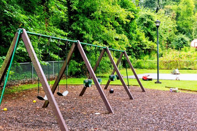 Swings at playground
